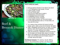 Beef & Broccoli Dinner www.baltimorefitbodybootcamp.com