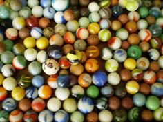 vintage marbles  / was  fun to play