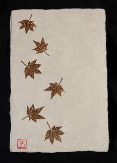 Beautiful handmade Japanese washi paper. $5