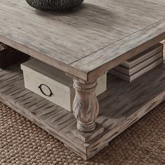 Edmaire Rustic Baluster 60-inch Coffee Table by SIGNAL HILLS