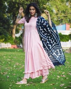 Pink suits women - (For the complete 3 peice set) Shop this from www ambraee com DM FOR… Kurti Neck Designs, Kurta Designs Women, Kurti Designs Party Wear, Salwar Designs, Dress Indian Style, Indian Dresses, Indian Outfits, Pink Suits Women, Designer Anarkali Dresses
