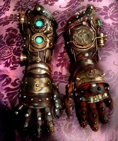 steampunk arm gauntlets | Imagine if Tony Stark was creating his Iron Man armor in the 1800s. He ...
