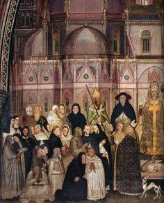 Andrea di Bonaiuto - La Chiesa militante e trionfante, dettaglio Ordine gerarchico della società medioevale - affresco - 1365-1367 - Cappellone degli Spagnoli - Museo di Santa Maria Novella, Firenze