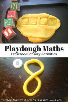 Playdough Math: Preschool Sensory Activities