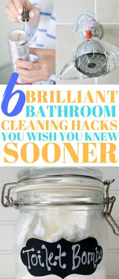 6 brilliant bathroom cleaning hacks you have to try #bathroom #cleaninghacks