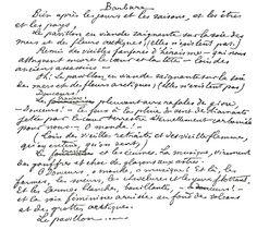 Arthur Rimbaud, Barbare, manuscrit autographe.  www.artexperiencenyc.com