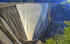 dam, summer, HDR, rock