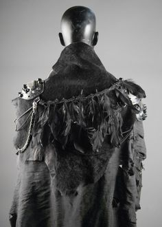 Junker Designs Women's Warrior Witch Armor with Fur & Silk Cape