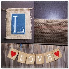 Use some eco friendly burlap to create this banner!