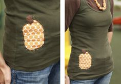 Pumpkin shirt! Love this! Maybe I can salvage one of my tees with pinholes or stains. :)