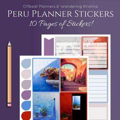 Peru Planner Stickers Weekly kit Erin Condren by OffbeatPlanners