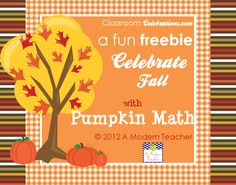 Pumpkin Math Freebie Classroom Celebrations