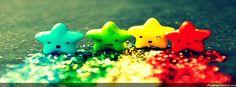 Portada estrellas colores hd - Divertidos - Facebook hd #708