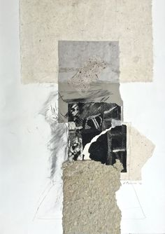 'Between Sand and Rock', 2016, intaglio, handmade paper and chine-colle by…