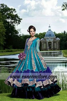 Young girls bridal Anarkali dresses 2014 collection, Product code: HER1503, Young girls bridal Anarkali dresses 2014 collection