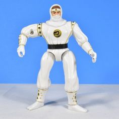 White Ranger Mighty Morphin Power Rangers 1995 Ninja Rangers Twirling action No disc or weapon Approximately 5.25 inches tall
