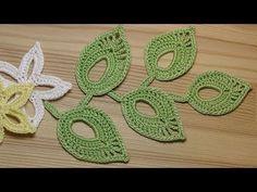 Как связать простой листик крючком - Easy To Crochet Leaf - YouTube