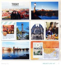 Project Life Prague *PL Kit Only* by qingmei at studio_calico Project Life Scrapbook, Project Life Layouts, Project Life Cards, Travel Scrapbook Pages, Pocket Scrapbooking, Scrapbooking Layouts, 12x12 Scrapbook, Digital Scrapbooking, Project Life Travel