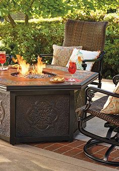Fire pits are ideal for those chilly summer nights.