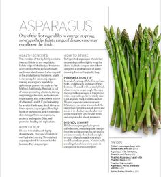 Beautiful Typography and Editorial and Magazine Design. Asparagus.