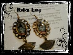 zombie geisha earrings cameo