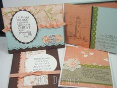 Set of Four Christian Greeting Cards memory by TopQualityScraps, $12.00