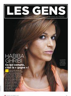 HABIBA GHRIBI Ce qui compte, c'est la « gagne » !: ELLE A DES ABDOS EN BÉTON et un mental d'acier. Mais, sous le crachin inhabituel de Tunis, elle apparaît, malgré son 1,74 mètre, toute frêle, désarmante de fraîcheur et de spontanéité. Entre une visite à sa fédération d'athlétisme, son entraînement et une réception en l'honneur des athlètes tunisiens médaillés aux Jeux olympiques, # #NEWS #SPORTS #AFRICA #TUNISIA -