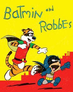 Batman and Robin meets Calvin and Hobbes