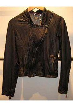 Doma Diagonal Zip Leather Jacket Profile Photo