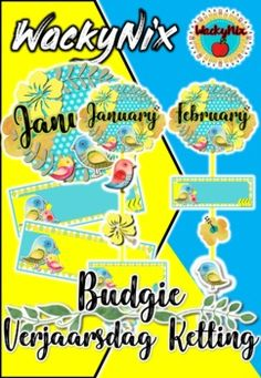 Birthday ChartsBirthday charts are designed to make a chain like effect, but the pictures and name cards can be placed differently. Birthday Charts are not editable. Birthday Charts, Type Posters, Budgies, Name Cards, Teacher Newsletter, Classroom Decor, Teaching, Afrikaans, Education