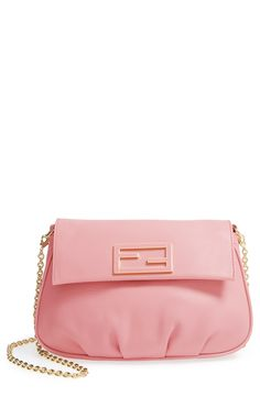 Adding this lovely pink and gold Fendi bag to the wishlist.