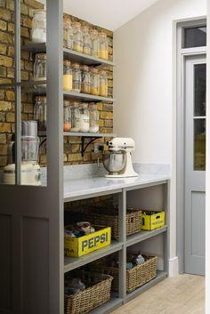 Butler's Pantry Design Ideas That Actually Feel Modern Extend the Kitchen, Shaker Kitchen, Kitchen Pantry, Kitchen Ideas, Pantry Ideas, Kitchen Designs, Kitchen Pics, Pantry Room, Kitchen Modern, Rustic Kitchen