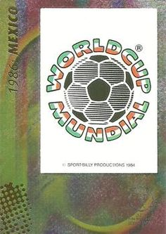 2002 Panini World Cup #16 Official Poster 1986 Mexico Front
