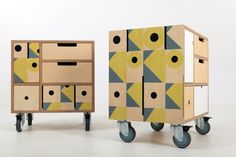 Small Chest - Green Chess Options On Wheels