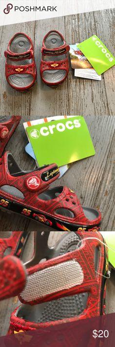 CROCS Disney Lightening McQueen Size 4 NEW Crocs Disney lightening McQueen sandals. Size 4. Brand new with tag. CROCS Shoes Sandals & Flip Flops