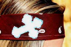 White Cross with Turquoise Background on Brown by RuralHaze, $11.99