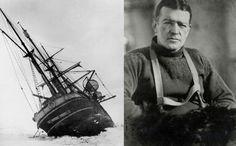 Foto: Ernest Shackleton junto al 'Endurance', que quedó encallado y naufragó en la costa antártida