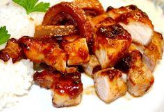 Fényezett sertésborda Jamie Olivertől Jamie Oliver, Shrimp, Meat, Chicken, Cooking, Food, Kitchen, Essen, Meals