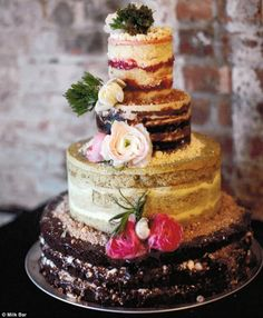 Naked Cake, Momofuku Milk Bar, Wedding Cakes, Wedding Cake Styles