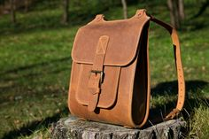 Bright brown leather backpack. Handmade in Lithuania. Be Stylish. InBagWeTrust $200.00 USD
