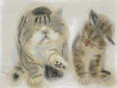 Shozo Ozaki Paints Cats <3 - Album on Imgur | Cats Are Awesome ...
