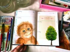 Jenny's Sketchbook: Journal Pages, Prepped Ahead... and a Time Lapse Painting