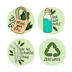Hand drawn ecology badges Free Vector   Free Vector #Freepik #freevector #hand #badge #hand-drawn #earth Save Our Earth, Love The Earth, Save The Planet, Segundo Round, Kalender Design, No Rain, Environmental Art, Green Life, Earth Day