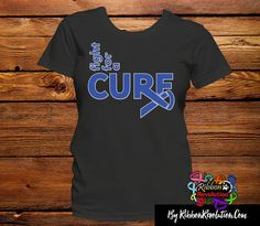 Blue Ribbon Fight For A Cure Shirts