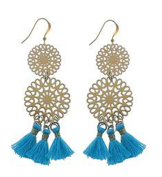 Blue Mandela Earrings