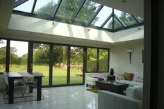 Roof lantern + fold back doors (living room)