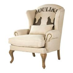 French country chair with chicken print