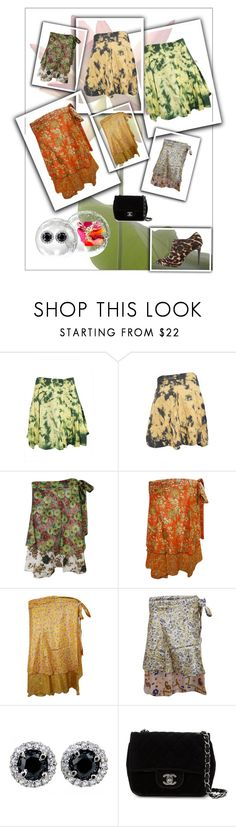 Bohemian Mini Skirts For Womens by moguldesigns on Polyvore featuring Lanvin, Chanel, boho, skirts and gypsyskirt