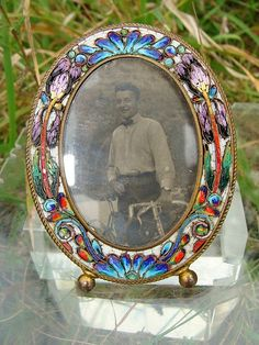 vintage micro mosaic frame