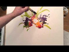 """Ken Hobson Watercolor """"Floral Demo"""" - YouTube"""